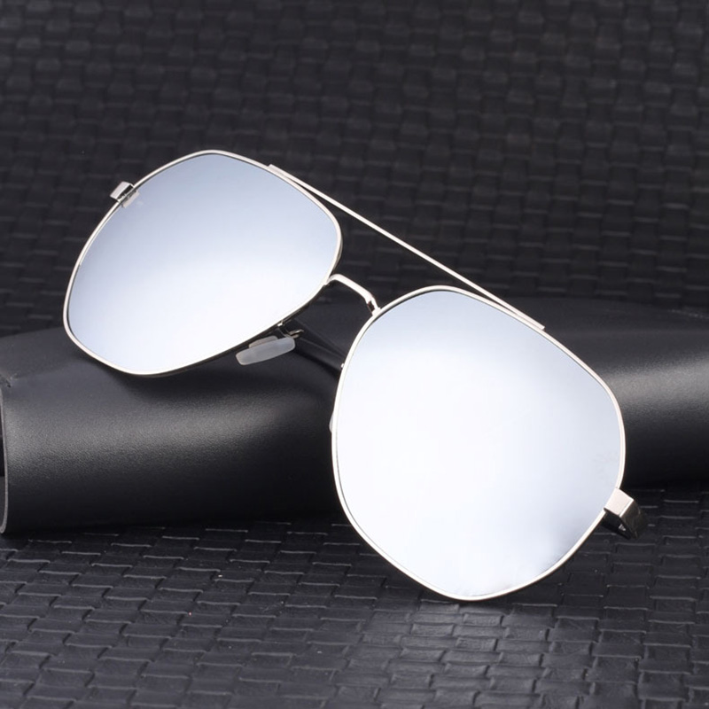 Evove big Polarized Sunglasses Male 168mm oversized Sun Glasses for Men polaroid driving ultralight black blue mirror