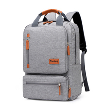 Hot Fashion Men Casual Computer Backpack Light 15.6 inch Laptop Lady Anti theft Travel Backpack Gray Student School Bag 2020 New