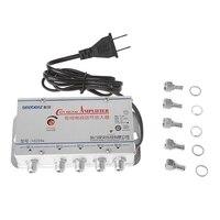1 комплект Новый американский штекер 4Way CA tv VCR ТВ антенна усилитель сигнала 20 дБ высокое качество Ca ТВ усилитель сплиттер 45-860 МГц ТВ антенна ...