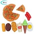 Kinder Simulation Lebensmittel Set Spielzeug Pretend Zu Spielen Pizza Cola Eis Eier Küche Spielzeug Mini Lebensmittel Täuschen Spielzeug Für kinder