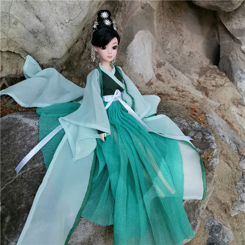 30CM Chinese Mythology Dress Girl Princess Bjd Doll Can Change Clothes Toys Gift For Girl