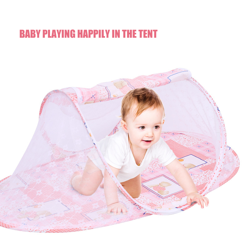 Portable Infant Bed Mosquitos Nets Foldable Crib Anti Mesh Sleeping Mosquito Net Cover Zipper Arched Mosquito Curtain For Baby