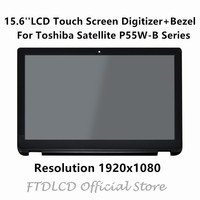FTDLCD 15.6'' Laptop Assembly LCD Touch Screen Digitizer with Bezel For Toshiba Satellite P55W B Series P55W B5112 P55W B5224