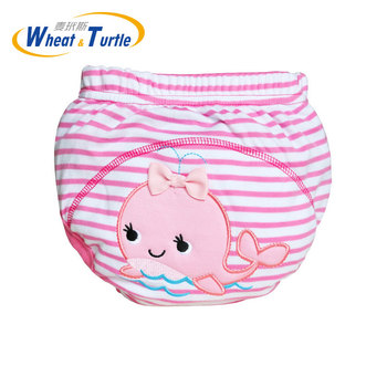 Mother Kids Baby Bare Cloth Diapers Baby Boys Girls Washable Diapers Reusable Diapers Nappies Cotton Training Panties Diapers фото