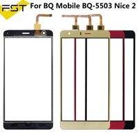 Bq 携帯 BQ 5503 BQ 5503 素敵な 2 タッチスクリーンレンズセンサー 5.5 インチタッチパネル交換 + ツール bqs 5503 nice2 -
