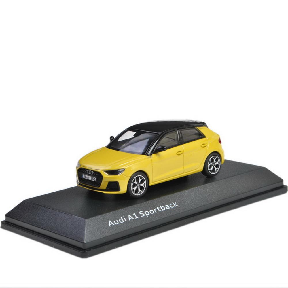 1/43 Scale Audi A1 Sportback 2018 Yellow Diecast Car Model Toy Collection Gift