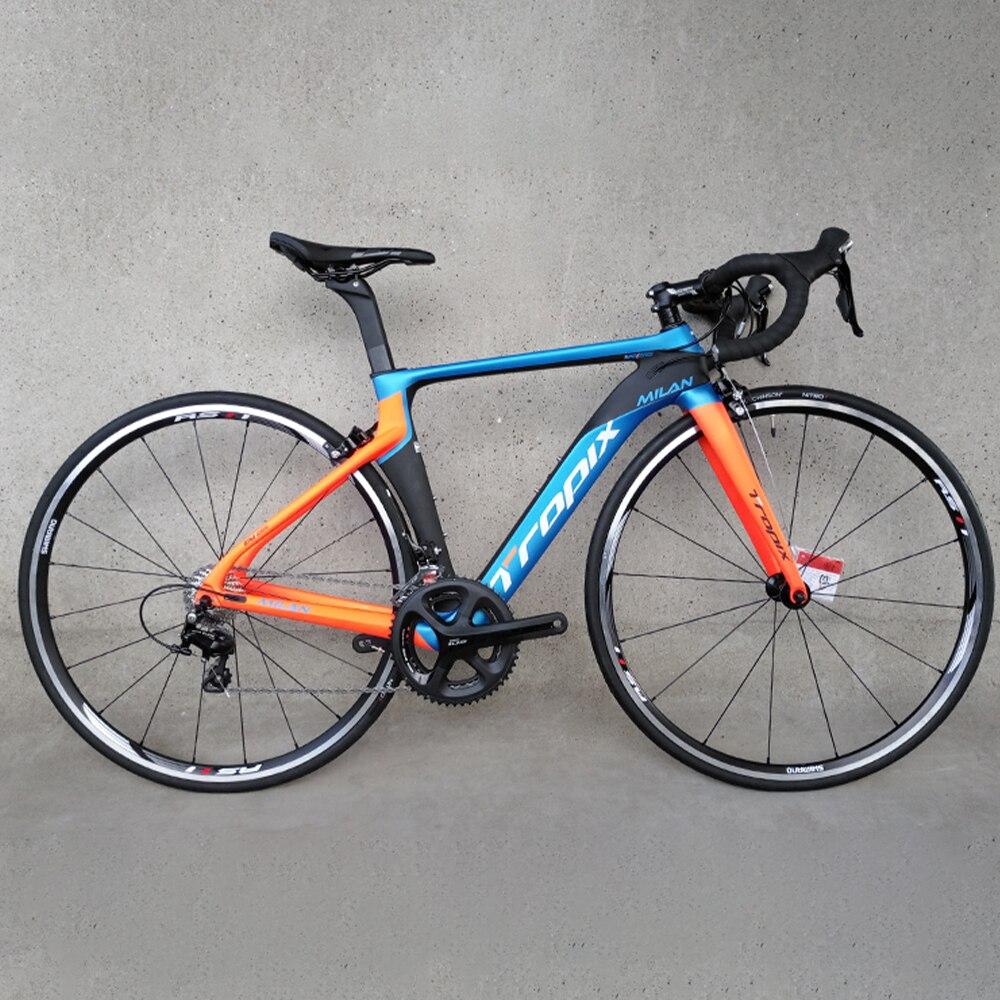 Tropix 22 скоростная Высококачественная карбоновая велосипедная Рама C тормозом BB86 Сверхлегкая 700C дорожная велосипедная Рама с вилкой + подсед...