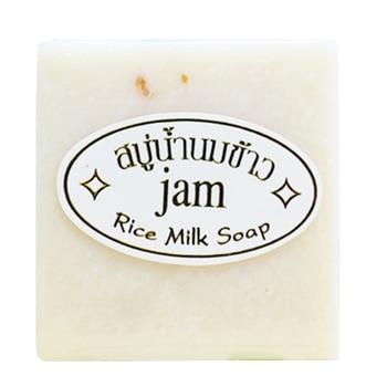 60g Milk Handmade Soap Whitening Moisturizing Brighten Skin Wash Face Body Cleaning Soap Rice Soap TSLM1 1