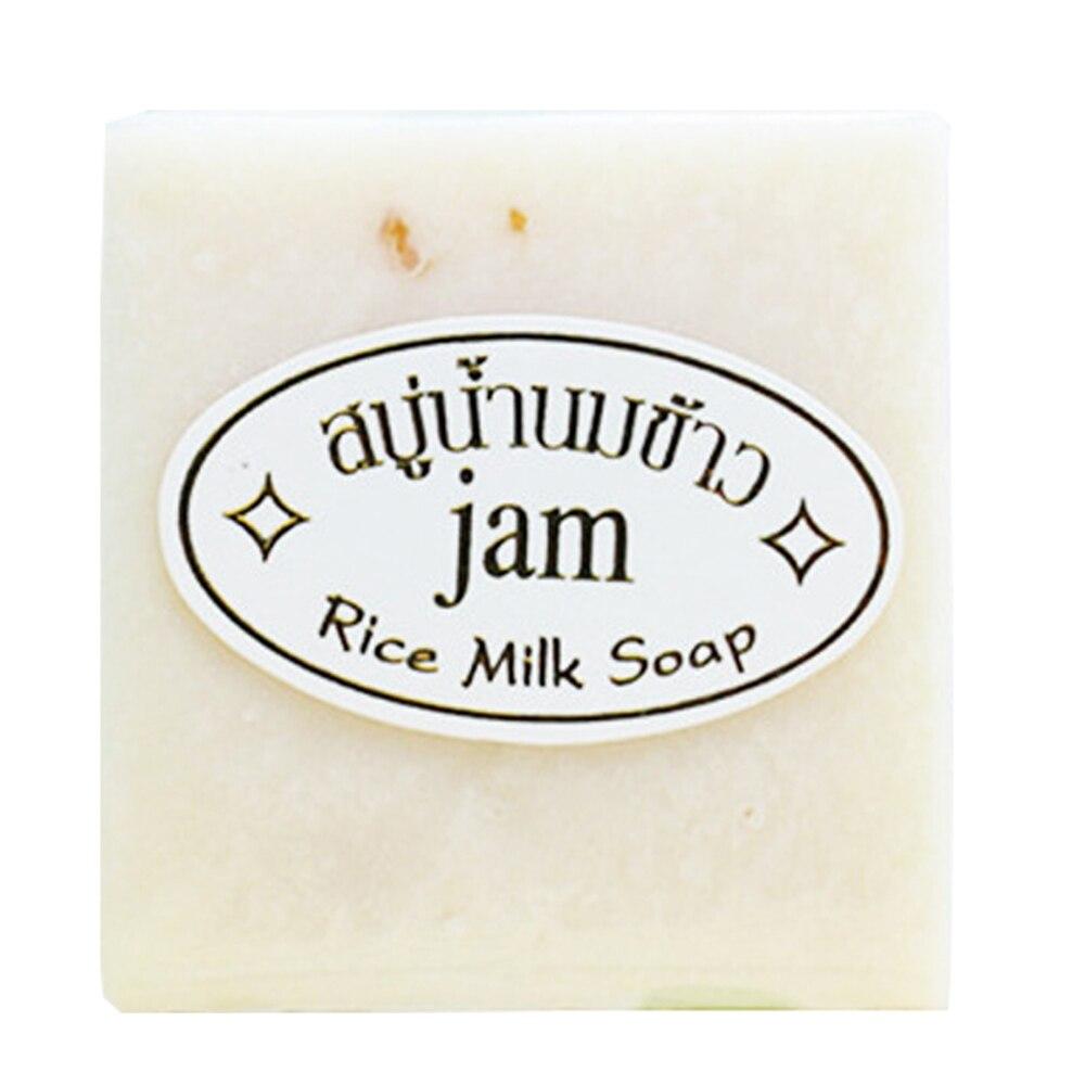 60g Milk Handmade Soap Whitening Moisturizing Brighten Skin Wash Face Body Cleaning Soap Rice Soap TSLM1