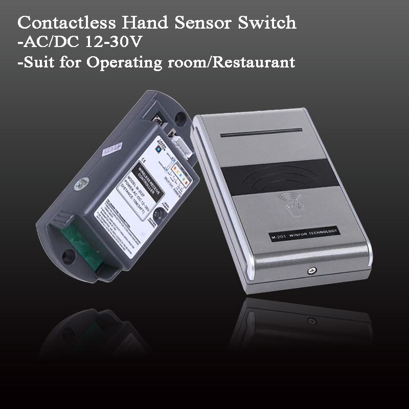 Operating Clean Room Door Switch Contactless Hand Sensor Switch Sliding Gate Opener Automatic Door Controller AC/DC 12-30V