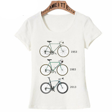 Camiseta clásica de bicicleta de carretera de engranaje fijo Vintage para mujer de moda de verano de manga corta para chicas bicicletas de deporte Casual camisetas femeninas lindas