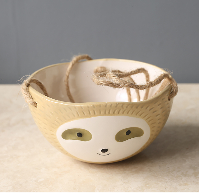 Nordic Wall Hanging Ceramic Sloth Pot