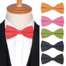 Linen Dots Bow Tie for Men Women Butterfly Bowtie Tuxedo Adjustable Girls ties For Wedding Party Bowties Accessories Cravat