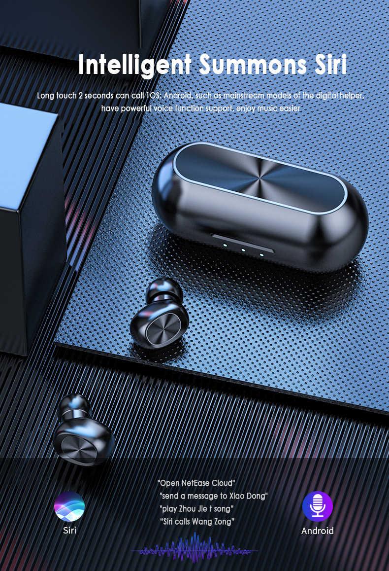 防水 Bluetooth ワイヤレスイヤホンため B5 5.0 TWS タッチ制御防水 Bluetooth イヤホン 9D ステレオ音楽イヤホン