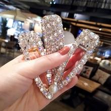 Korea Shiny Crystal Rhinestones Hairpins Geometric Rectangle Waterdrop Imitiation Pearl Hair Clips Hair Accessories