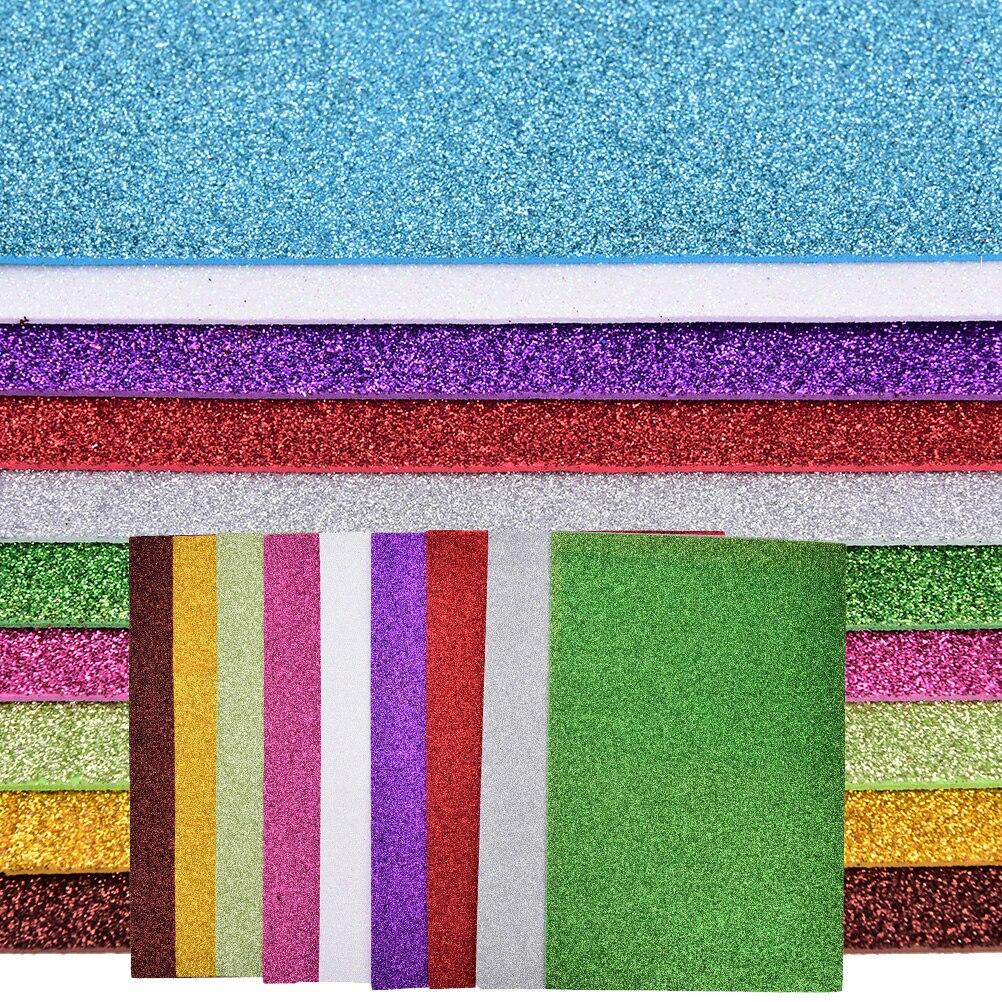 10pcs Flash Thick Sponge Paper With Rubber Powder EVA Foam Paper DIY Paper Craft Scrapbooking Paper Origami Colored Decor 5