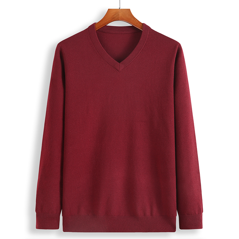 Image 4 - 2019 New Winter Cashmere Sweater Men Loose Male Pullovers V Neck Men's Knittwear Men's Christmas Sweaters Plus Size 6XL 7XL 8XL-in Pullovers from Men's Clothing