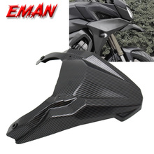 Karbon Fiber doku ön tekerlek çamurluk Yamaha MT 09 FJ09 MT09 Tracer 900 GT 2015 2020 gaga burun konisi uzatma kapak ekstra