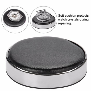 Watch Jewelry Case Movement Casing Cushion Pad Leather Protecting Holder Professional Watchmaker Repairing Tool Kits Dia 53mm - discount item  35% OFF Watches Accessories
