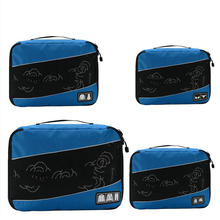 High quality 4Pcs/set Travel Luggage Organizer Cubes Breathable Mesh bags Storage Clothes Bag Waterproof Accessories