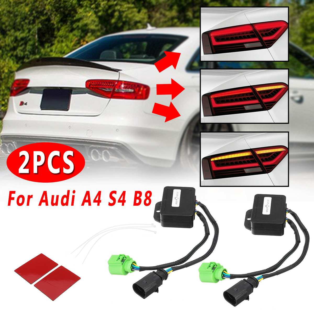 2 Pcs LED Taillights For Audi A4 S4 B8 2012 2018 sedan  Limo Semi Dynamic Turn Signal Indicator Signal Lamp    - AliExpress