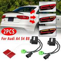 2 Pcs LED Taillights For Audi A4 S4 B8 2012 2018 sedan Limo Semi Dynamic Turn Signal Indicator