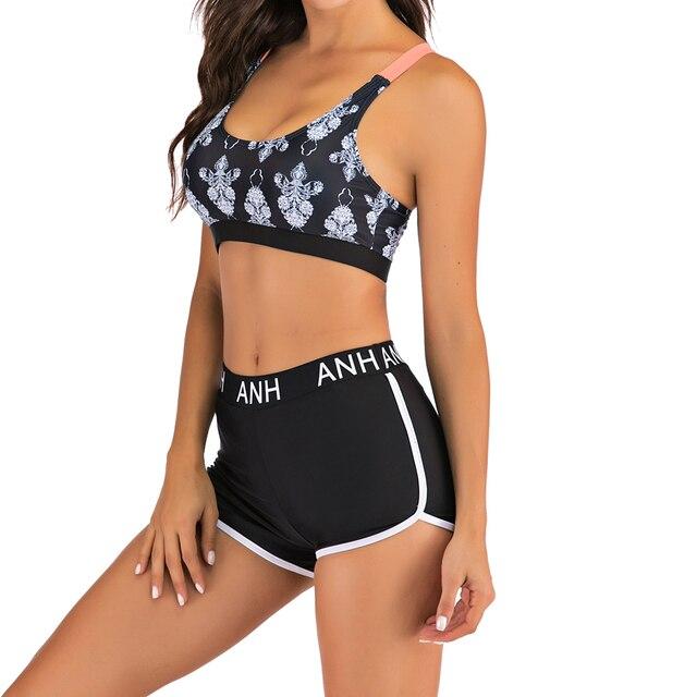 Nouveauté dame Tankini deux pièces grande taille maillot de bain femmes avec short maillots de bain femme maillot de bain Mayo plage baigneurs Maios