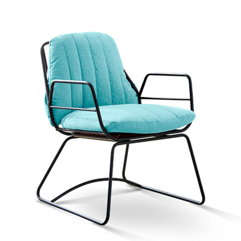 Modern INS Wrought Iron Single Sofa Chair Dining Chairs For Dining Rooms Dining Furniture Bedroom Living Room Cafe Dining Chairs