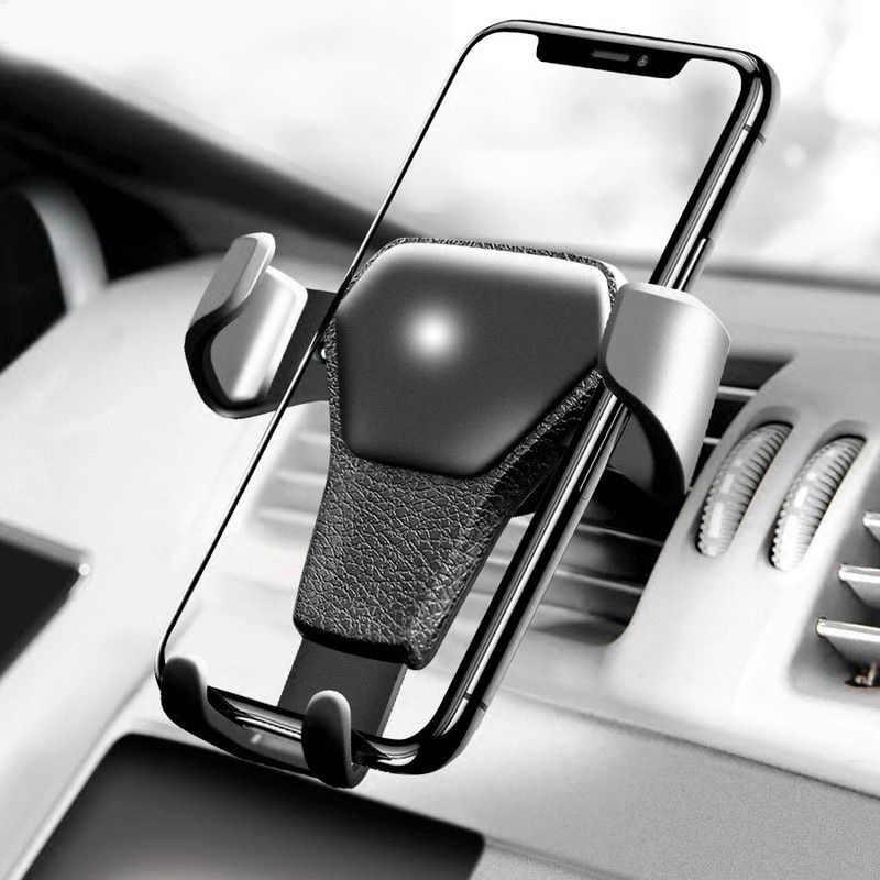 Nero Mobile Supporto da Auto Per Samsung Galaxy S10 Air Vent Mount Supporto Del Telefono Mobile Per Xiaomi Nota 6A Huawei In auto Titolari di Stand