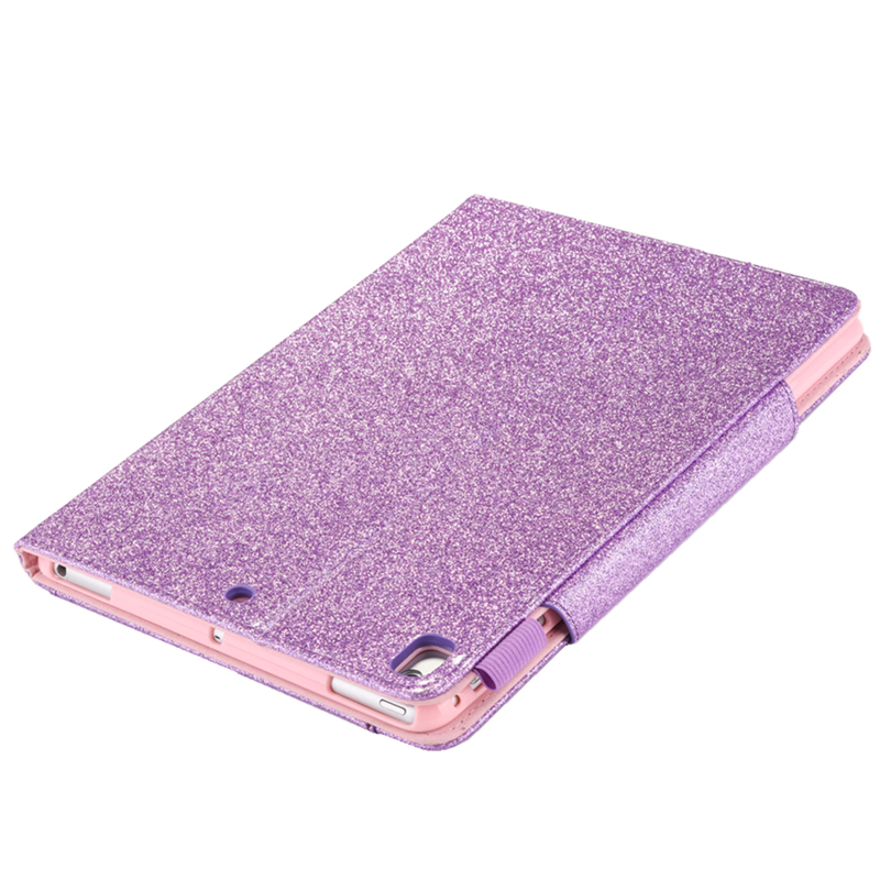 7th Leather Coque 10.2 iPad 2019 iPad For 10.2 Funda For inch Bling Case Glitter Cover