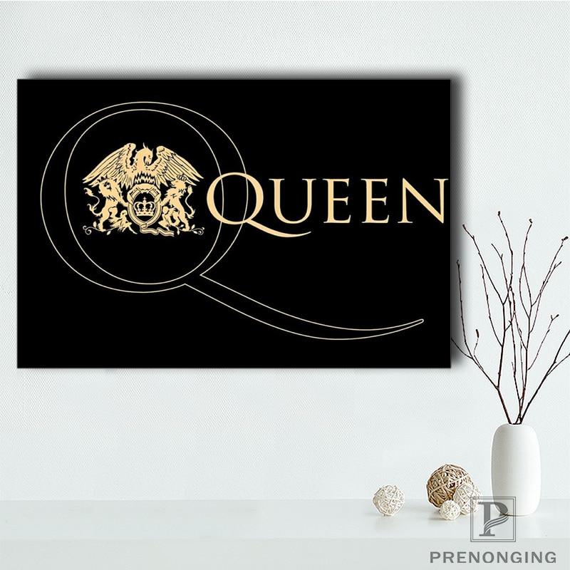 Пользовательские королева постер музыкальной группы искусство домашний декор холст печать из шелковой ткани с принтом плакат на стену без рамки #181205-03-129