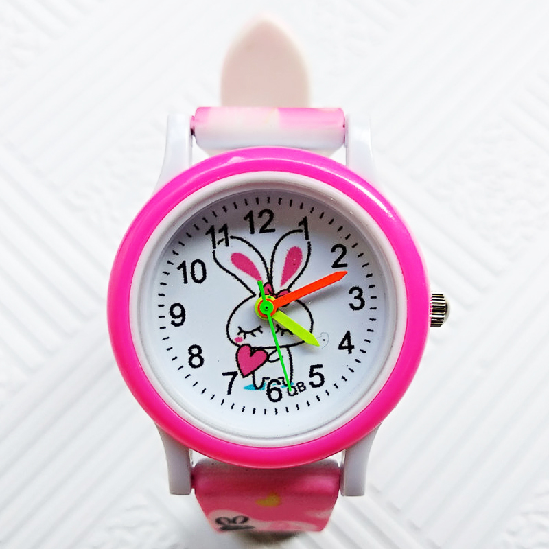High Quality Colored Strap Children's Watch Cute Rabbit Girls Watches Kids Boys Students Sports Clock Child Casual Quartz Watch