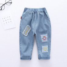 Brand Kids Trousers Patch Pant Fashion Girls Jeans Children Boys Hole Jeans Kids Fashion Denim Pants Baby Jeans Infant Clothing cheap anrayan Casual CN(Origin) Fits true to size take your normal size RY202001735XMW Elastic Waist Unisex Patchwork Loose Light