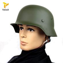 Totrait high quality german m35 helmet steel black green grey