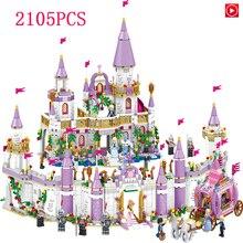 Amigos niñas juguete Castillo de la princesa 1106 nuevos amigos modelos kits bloques de construcción juguetes de Navidad para niños