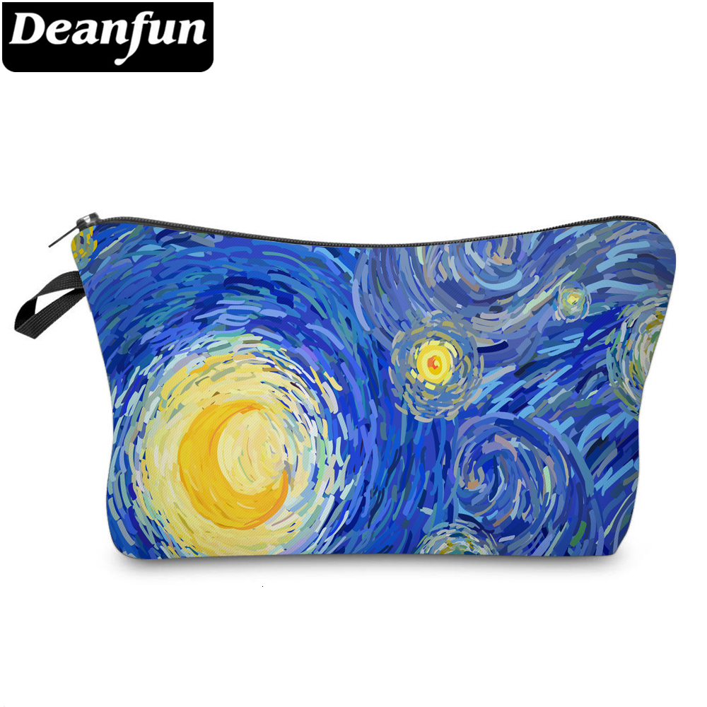 Deanfun Moon Painting Small Makeup Bag Waterproof Cosmetic Bags Women Storage Travel Bags 51607