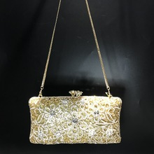 Handbag Wedding Flower Floral-Clutch-Bag Purse Women Evening-Clutch Crystal Fashion Minaudiere