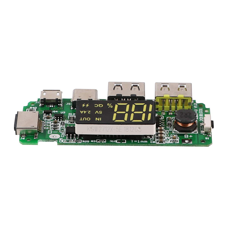LED Dual USB Micro Type C Mobile Power Charging Board USB 18650 Overload Charger Over Discharge