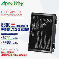 6600 Mah 11.1V Laptop Batterij Voor Asus A32-F52 A32-F82 F82 X5A X5E X70 X8A K40 K40in K50 K50in K50ij k50ab K51 K60 K61 K70 P81