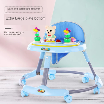 Hot New Baby Walker Music Baby Folding Car 6-18 Months Child Anti-rollover Multi-function Walker Baby Walker Can Sit new design baby walker multifunctional music plate u type folding easy anti rollover safety scooter baby walkers portable carry