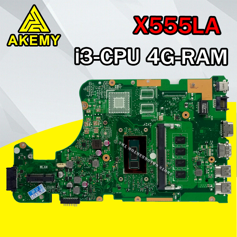 X555LD Motherboard I3-4GB-REV:3.6 RAM For ASUS X555LP X555L F555L K555L W519L Laptop Motherboard X555LA Mainboard Test 100% OK