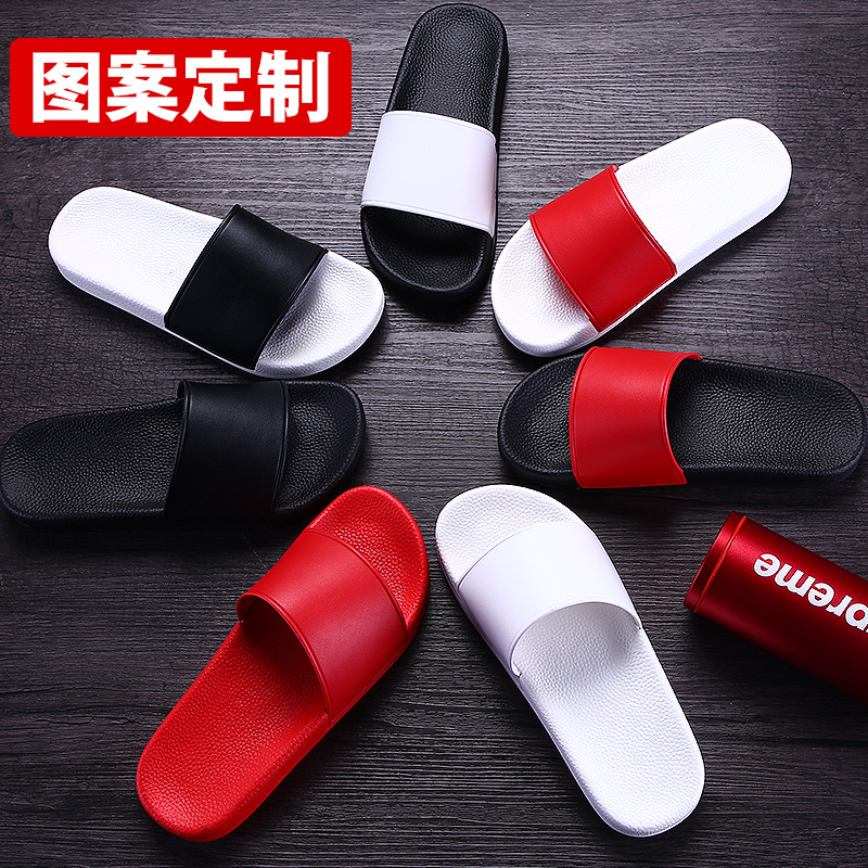2020 Slippers Custom LOGO Gym Fashion Tide Brand Korean Slippers Indoor And Outdoor Home Company Gifts Sandals And Slippers