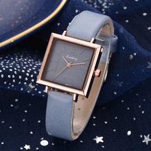 OTOKY Watches Fashion Women Leather strap Wrist Watch Luxury Square Quartz stainless steel Dial relogio feminino Dropshipping(China)