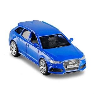 Модель автомобиля из сплава 1/36 Audi RS6 Wagon моделирование модель автомобиля открытая дверь оттягивание металлическая модель автомобиля детская игрушка автомобиль подарки