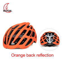 цена на MOON Road Bike Riding Reflective Helmet Integrated Molding Bicycle Helmet Riding Helmet Men Women MTB Bicycle Equipment Helmet