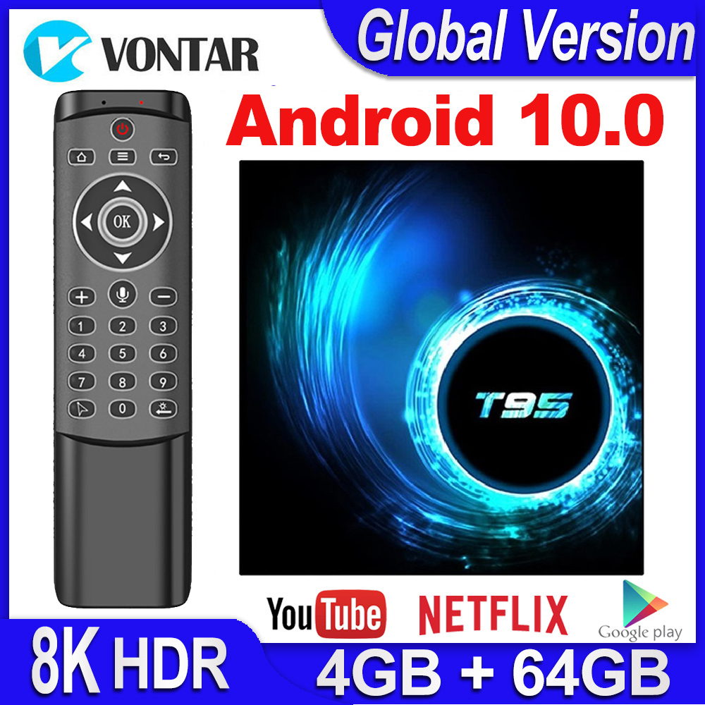 VONTAR Android 10 TV Box T95 Smart TV Box Android 10.0 4GB RAM 32GB 64GB Allwinner H616 Quad Core TVBox 4K Media Player 2GB 16GB
