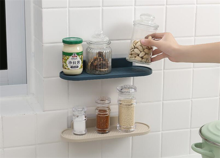 3 Colors Bathroom Corner Storage Rack Organizer Shower Wall Shelf With Suction Cup Kitchen Bathroom Shelves