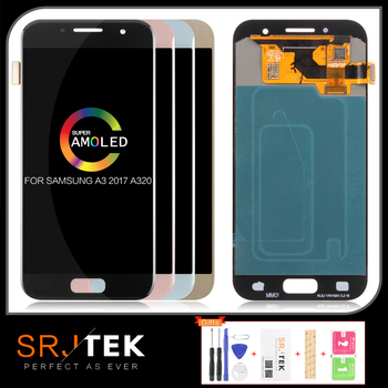 Warranty AMOLED A320 A320F LCD for SAMSUNG Galaxy A3 LCD 2017 Display Touch Screen Digitizer A320M SM-A320F LCD Replacement