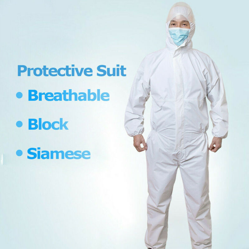 2020 White Coverall Hazmat Suit Protection Protective Disposable Anti-Virus Clothing Disposable Factory Hospital Safety Clothing