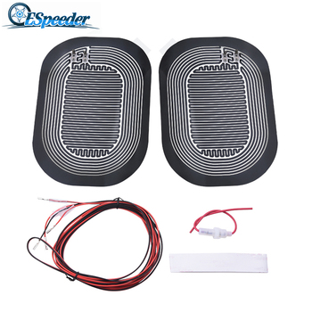 SPEEDWOW Universal DC 12V Car Mirror Heated Pad Side Mirror Glass Heat Heated Pad Car Mirror Heating Glass Heated Pad hot 2pcs universal new quick warm 12v car side mirror glass heat heated heater defogger pad mat for vehicles cars accessories